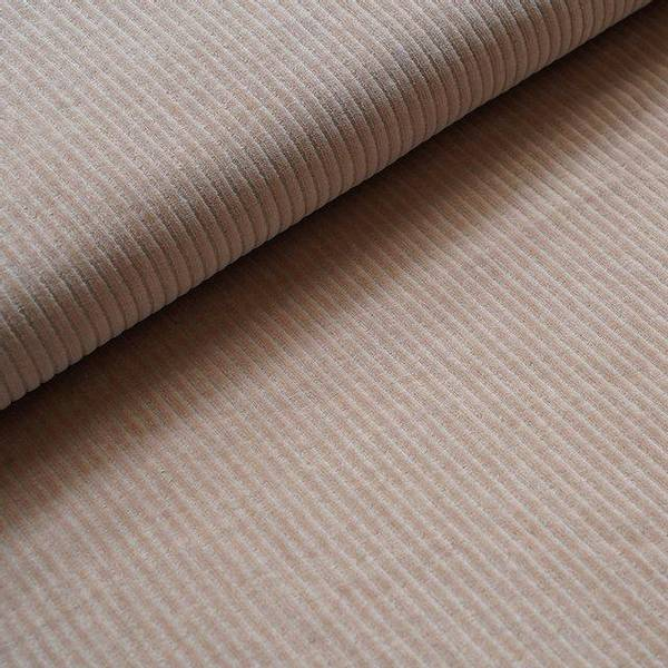 Bilde av Økologisk myk cordfløyel, beige