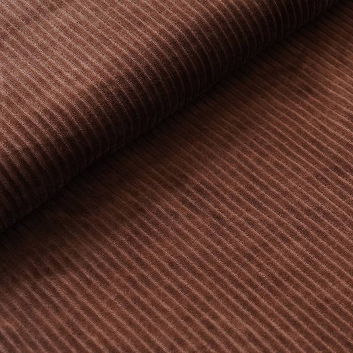 Økologisk myk cordfløyel, brun