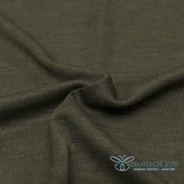 Bilde av Økologisk ull/silke, skogsgrønn