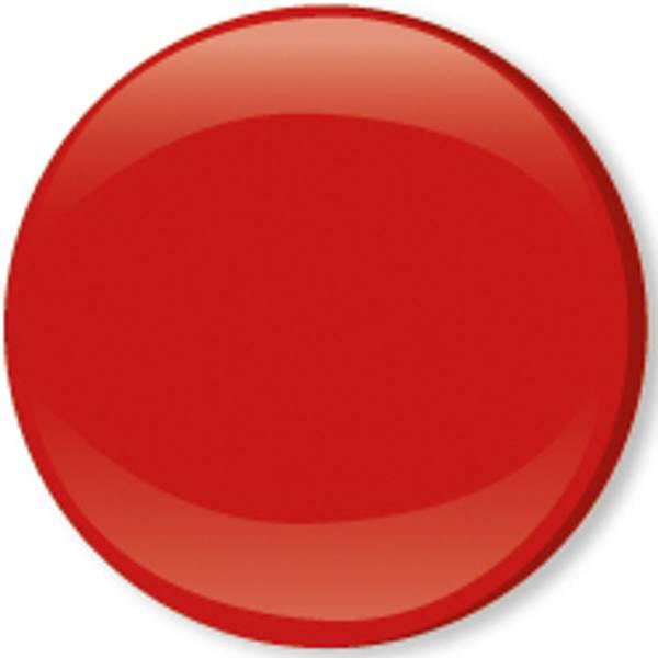 Bilde av Metalltrykknapper m/kappe rød