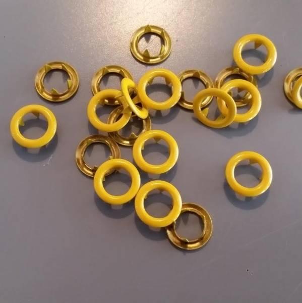 Bilde av Metalltrykknapper gul