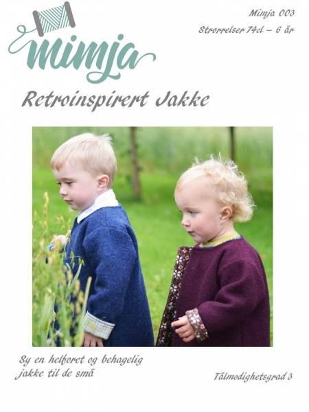 Bilde av Mimja, mønster, retroinspirert jakke