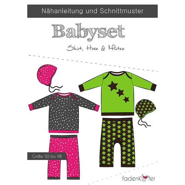 Bilde av Fadenkäfer Babysett: Genser, bukse og lue